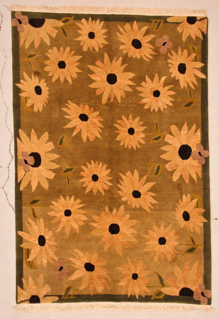 Modern Tibetan Rug: 6' x 9' (183 x 274 cm)