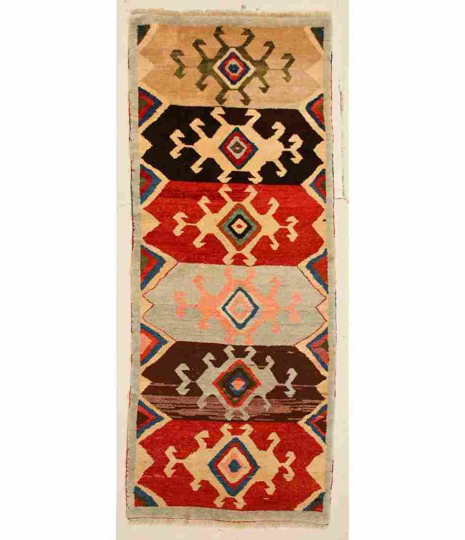 """Turkish Village Rug: 4' x 11'5"""" (122 x 348 cm)"""