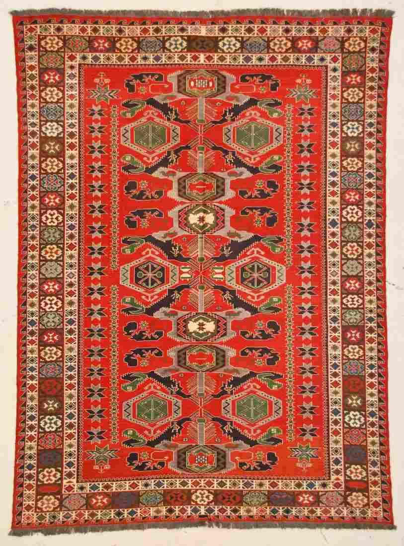"Afghan Soumak Rug: 6'1"" x 8'4"" (185 x 254 cm)"