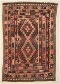 """Afghan Maimana Kilim: 7'10"""" x 10'6"""" (239 x 320 cm)"""