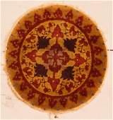 SemiAntique Chinese Circular Rug 2 x 2 61 x 61 cm