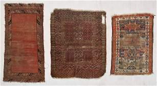 3 Antique Caucasian and Turkmen Rugs