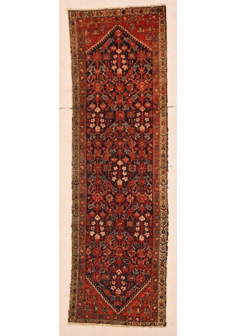 """Antique Hamadan Rug: 2'11"""" x 9'7"""" (89 x 292 cm)"""