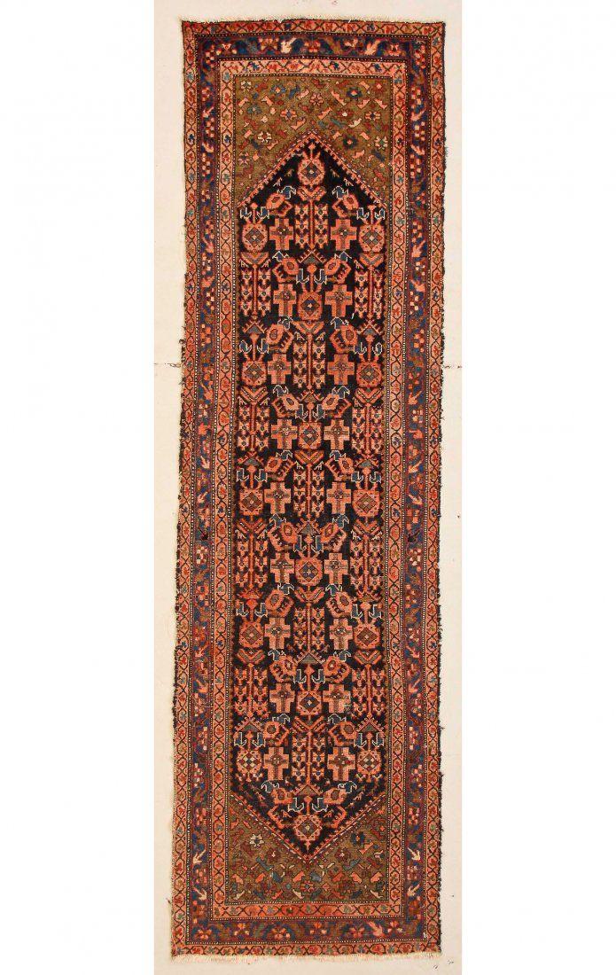 """Antique Hamadan Rug:  3'2"""" x 11'2"""" (97 x 340 cm)"""