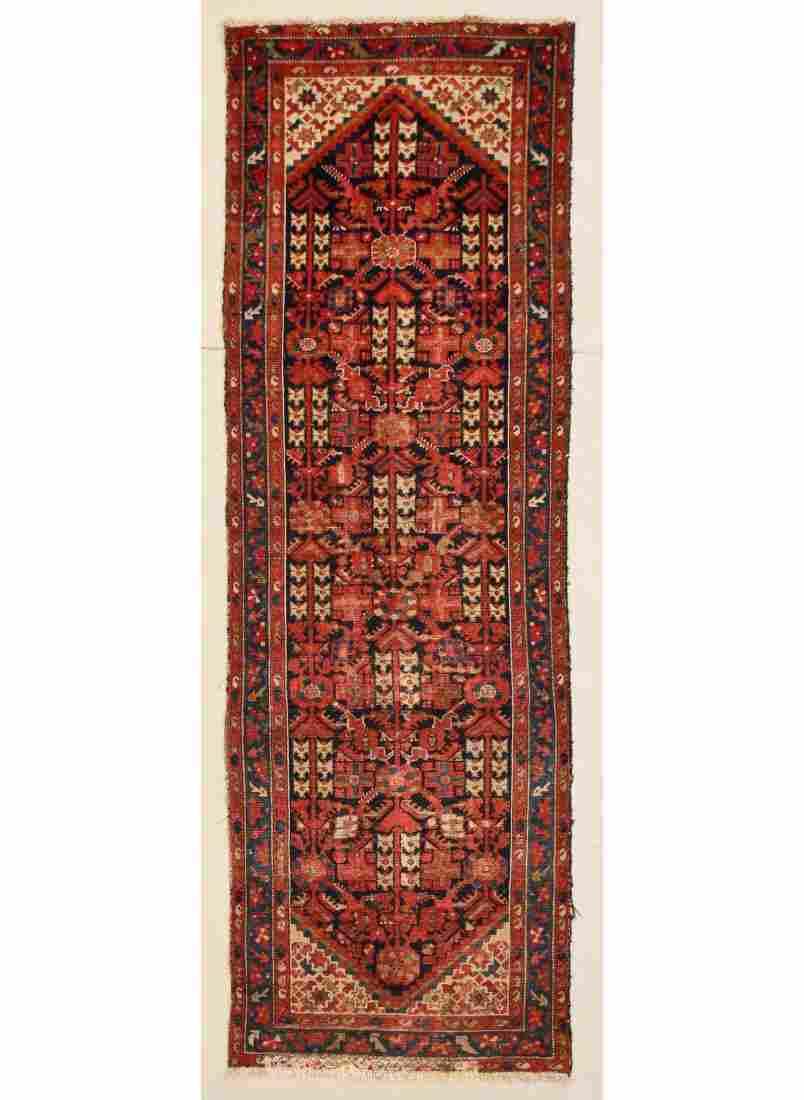 """Antique Hamadan Rug: 3'3"""" x 9'9"""" (99 x 297 cm)"""