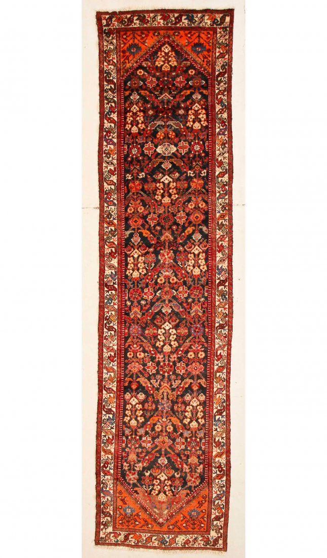 """Antique Hamadan Rug: 3'3"""" x 13'2"""" (99 x 401 cm)"""