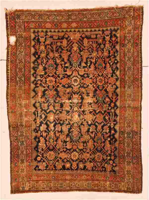 Antique Hamadan Rug: 4' x 6' (122 x 183 cm)