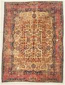 "Antique Kerman Rug:  7'9"" x 10'5"" (236 x 318 cm)"