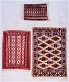 3 Vintage Bokhara Rugs