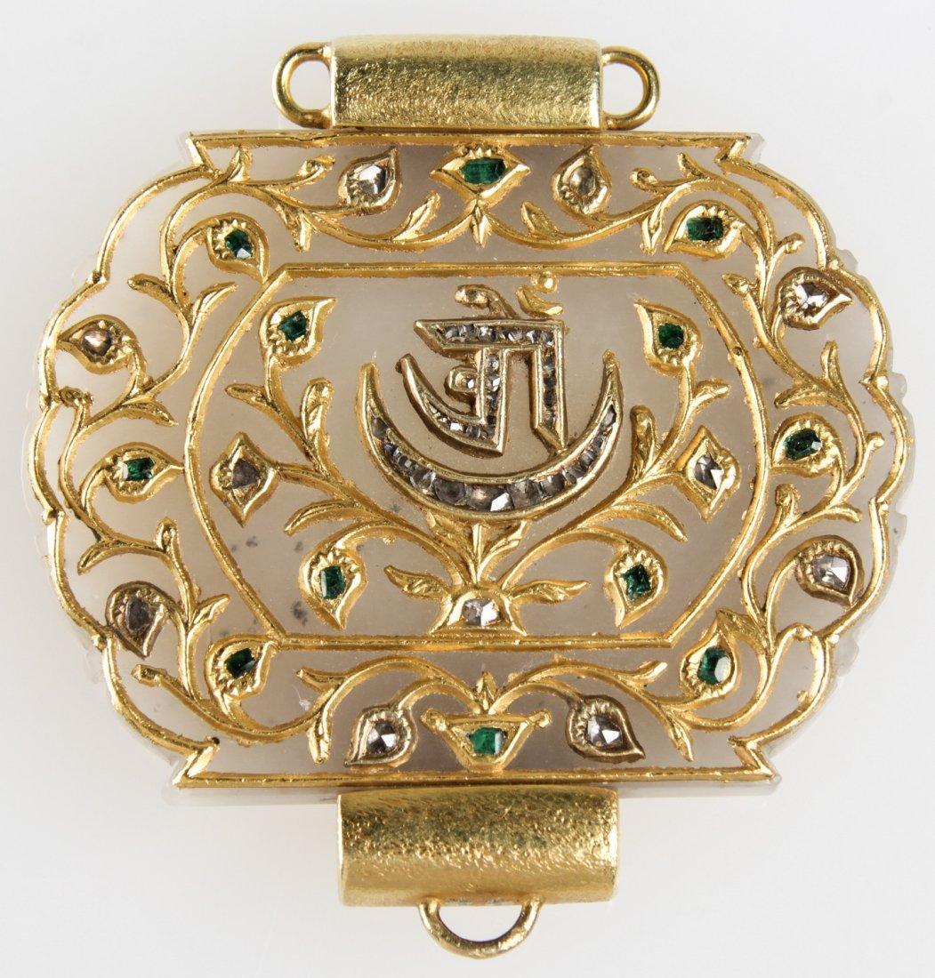 Moghul Jade w/Gold, Diamonds, Emeralds