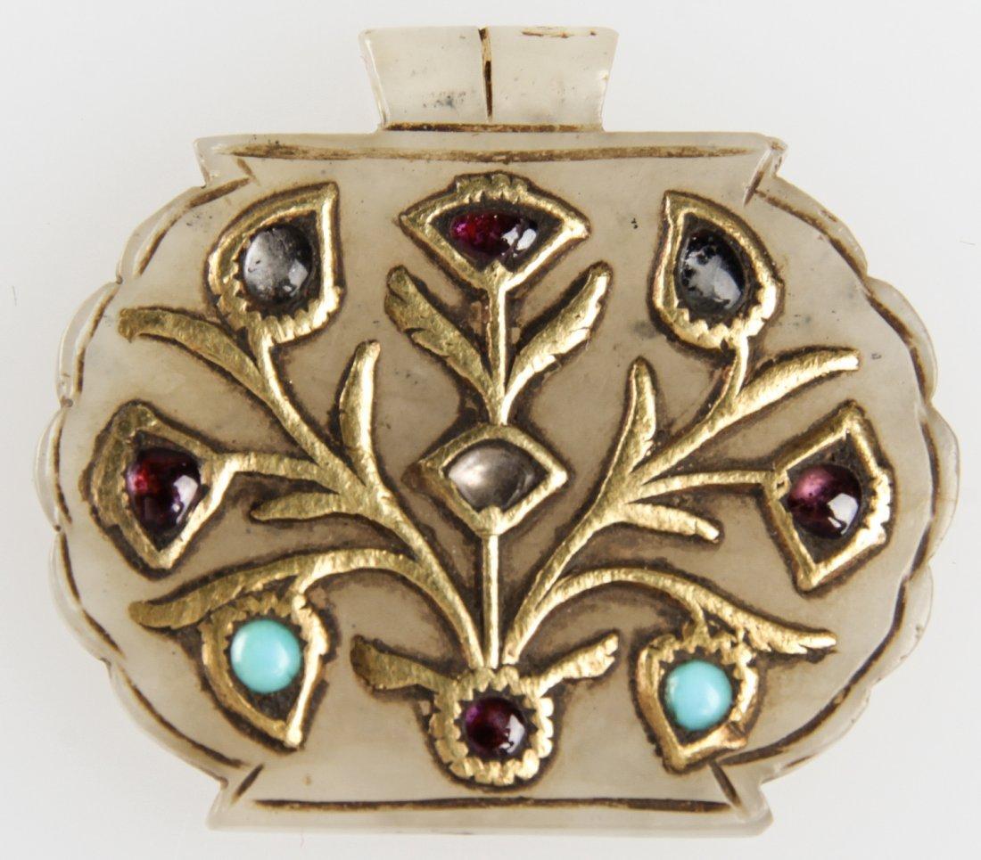 Moghul Jade Pendant w/ Gold and Gemstones
