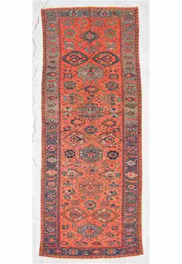 """Antique Caucasian Sumakh Rug: 5' x 12'10"""" (152 x 391"""