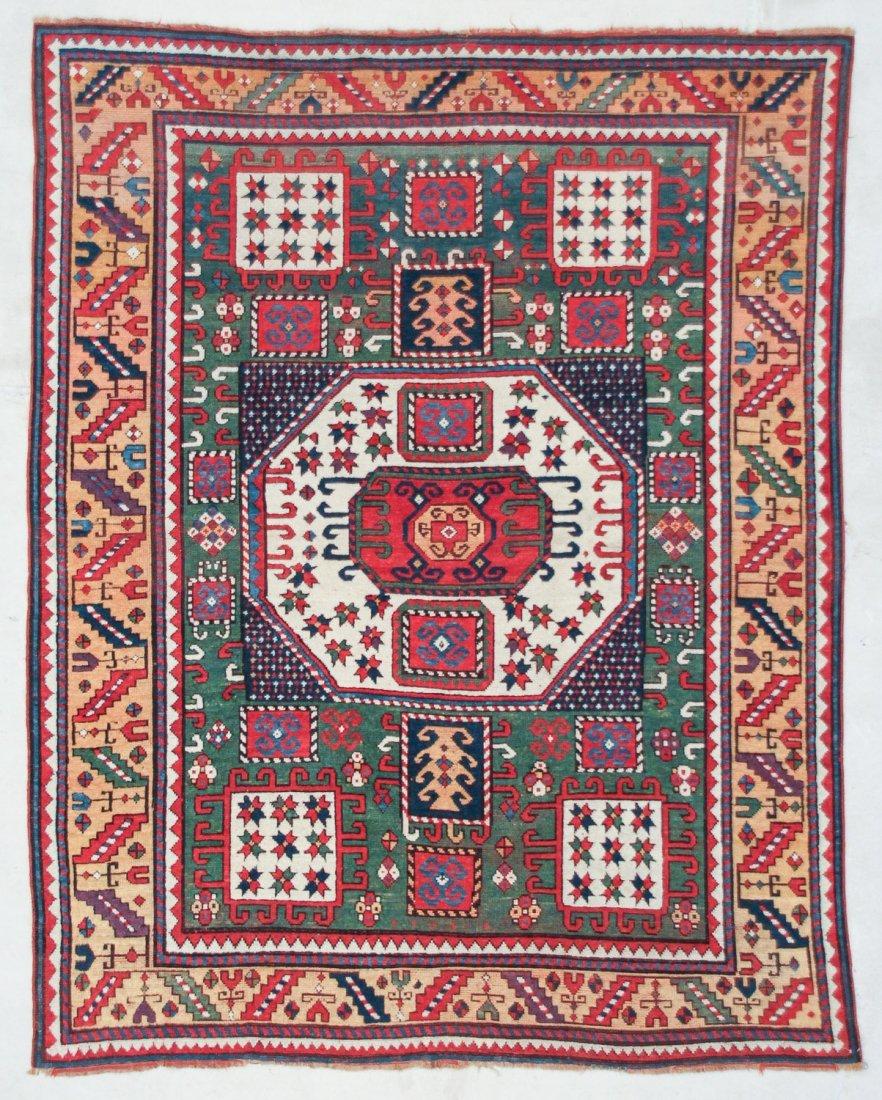 "Antique Karachov Kazak Rug: 5'7"" x 7'2"", 170 x 218 cm"