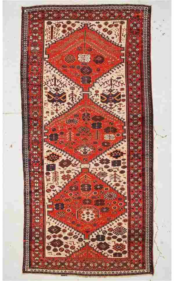 """Antique Gashgai Rug: 6'3"""" x 13'2"""" (191 x 401 cm)"""