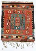 """Antique West Anatolian Kilim: 42"""" x 35"""" (107 x 89 cm)"""
