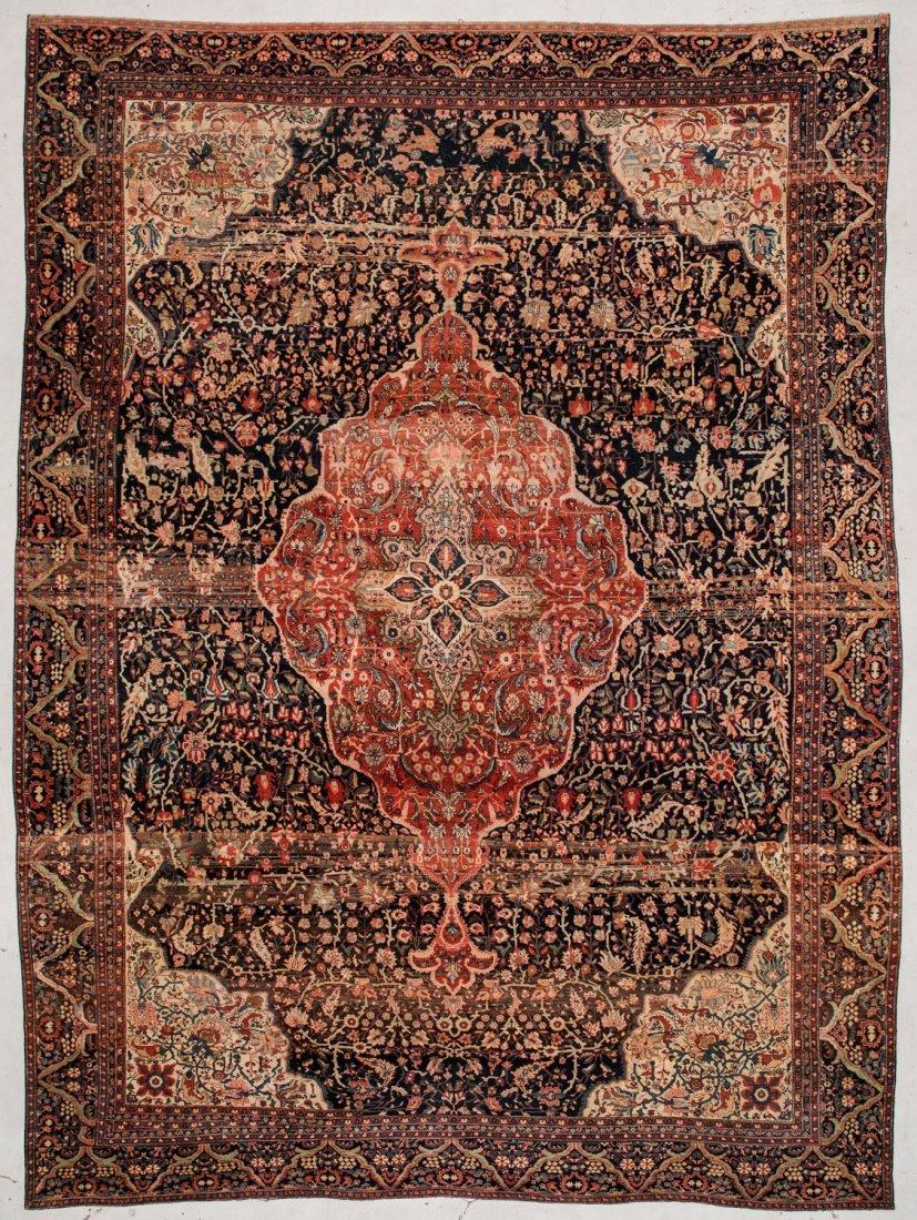 "Antique Mansion-Size Sarouk Ferahan Rug: 13'2"" x 19'10"""
