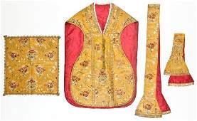 Fine Antique Venetian Silk Vestment Set 4