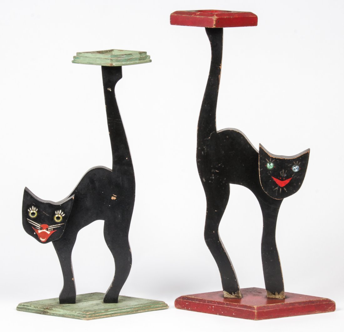 2 Black Cat Standees
