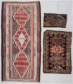 3 Antique Caucasian Persian Turkish Rugs