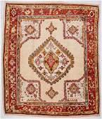 "Antique Oushak Rug: 10'8"" x 12'9"" (325 x 388 cm)"