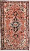 "Antique Mansion-Size Serapi Rug: 11' x 18' 4"""