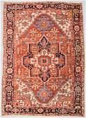 """Antique Serapi Rug: 9'2"""" x 12'7"""" (279 x 384 cm)"""
