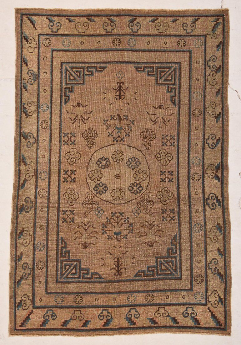 "Antique Khotan Rug: 4'7"" x 6'11"" (140 x 211 cm)"