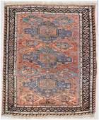 "Antique Soumak Rug: 4'8"" x 5'7"" (142 x 170 cm)"