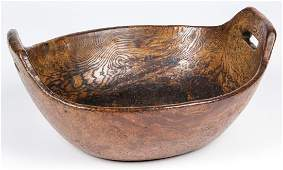 Large Burl Bowl, Possibly Iroquois