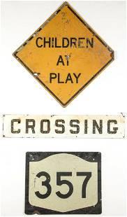 3 Vintage Metal Signs