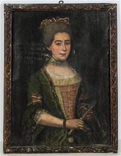Antique European School Portrait of a Lady