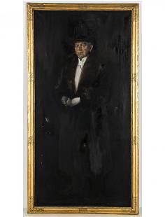 Frederick Harer Framed Portrait of a Gentleman, 1919