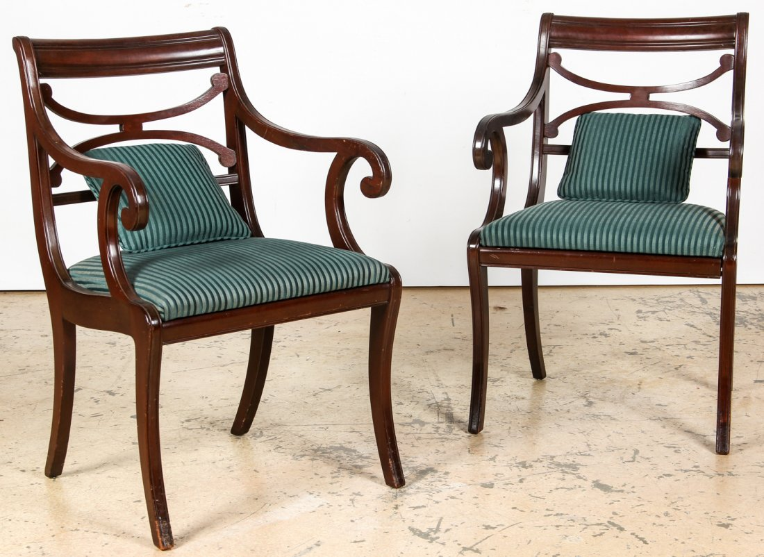 2 American Empire Style Dining Chairs