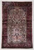 Antique Silk Kashan Prayer Rug 43 x 67