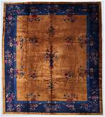 Gold Field Art Deco Chinese Rug 10 x 117