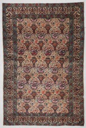 """Antique Persian Rug: 4'8"""" X 7' (142 X 213 Cm)"""