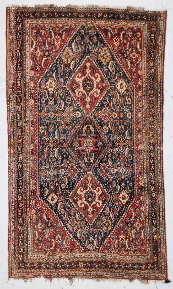 """Antique Gashgai Rug: 5' x 8'6"""" (152 x 259 cm)"""
