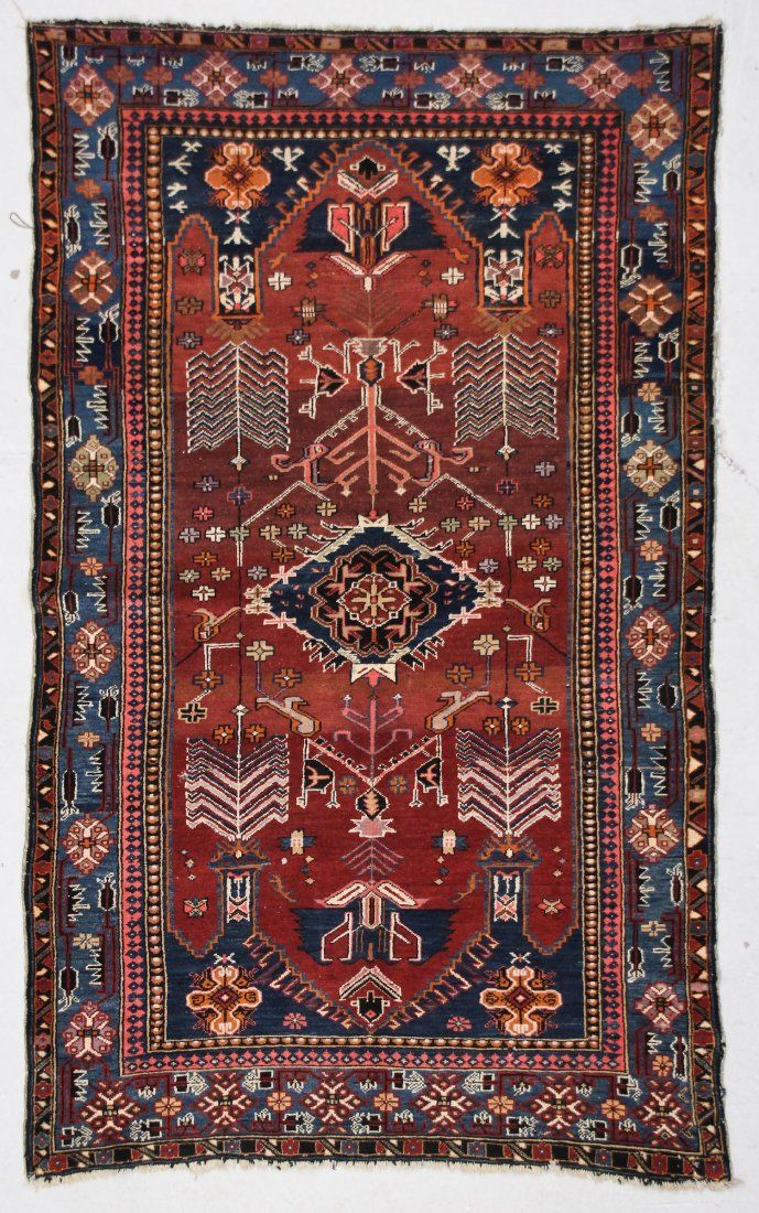 Antique Kuba Rug: 4' x 7' (122 x 213 cm)