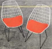 Pair Bertoia Style Side Chairs