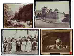 Samuel Bourne (1834-1912) and Others, 4 Images of India