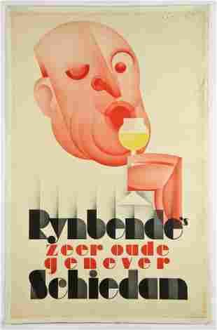 Vintage Johannes Romein for Rynbende's Genever