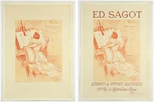 2 Paul Helleu for Ed. Sagot Advertising Posters