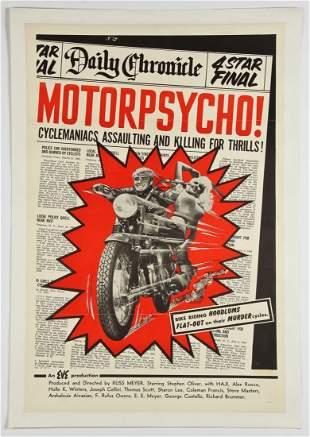 Vintage Russ Meyer Motorpsycho! Movie Poster