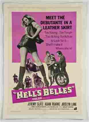 Vintage 1968 Hell's Belles Movie Poster
