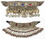 2 Vintage Afghan Kutch Metal Chokers