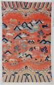 "18th/19th C. Chinese Pictorial Rug: 4'6"" x 7'6"""
