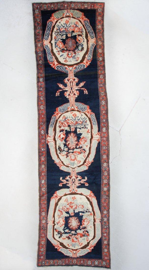 "Antique Caucasian Karabagh Rug: 4'2"" x 15'10"""