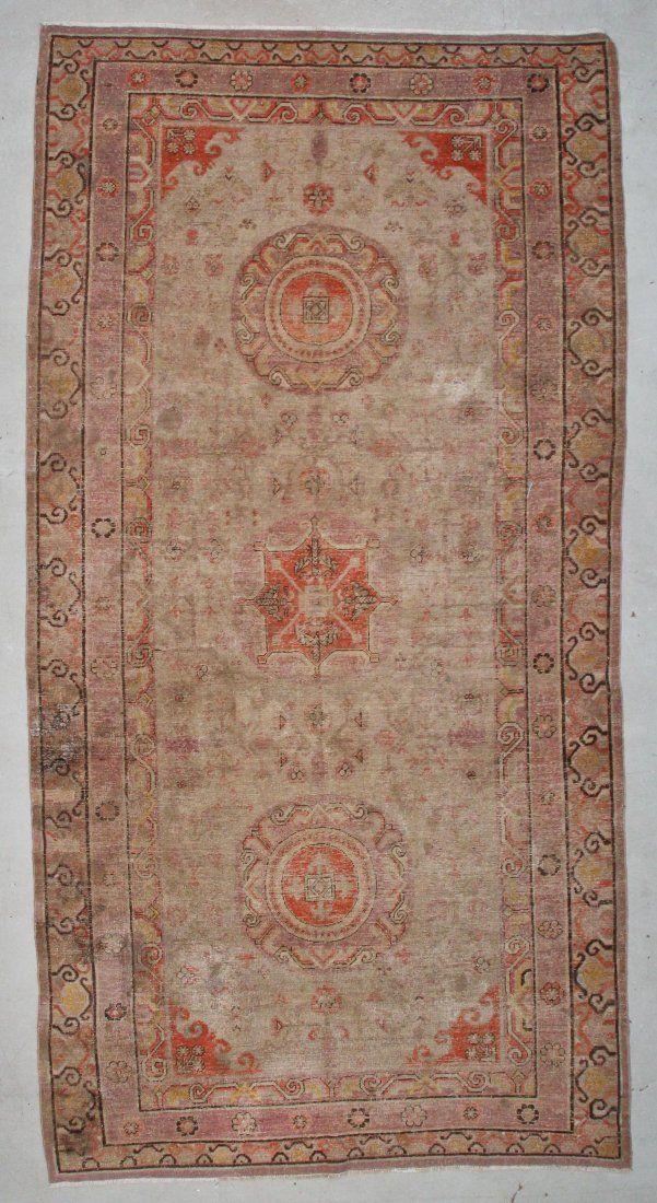 "Antique Khotan Rug: 6'3"" x 13'1"" (191 x 399 cm)"
