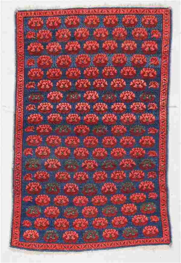 "Antique Kuba Rug: 3'3"" x 5' (99 x 153 cm)"