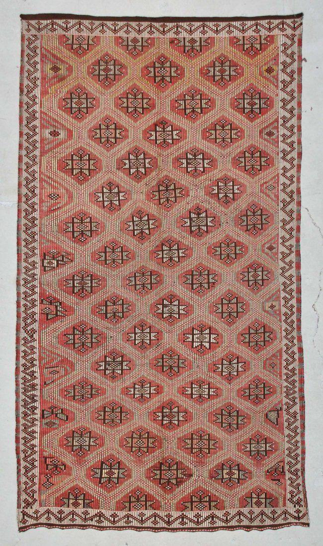 "Modern Turkish Kilim: 5'3"" x 9'4"" (160 x 284 cm)"